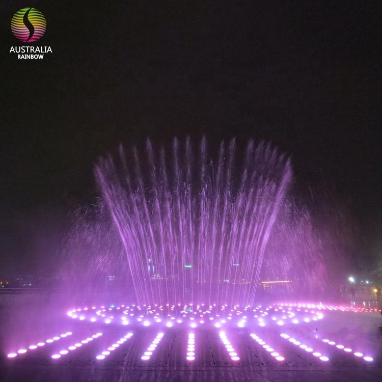 Hidden in Ground Pool Dry Fountain with Music and Colorful LED Lights 3