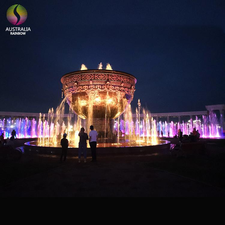 Round Shape Outdoor Floor Multimedia Dry Music Fountain 2