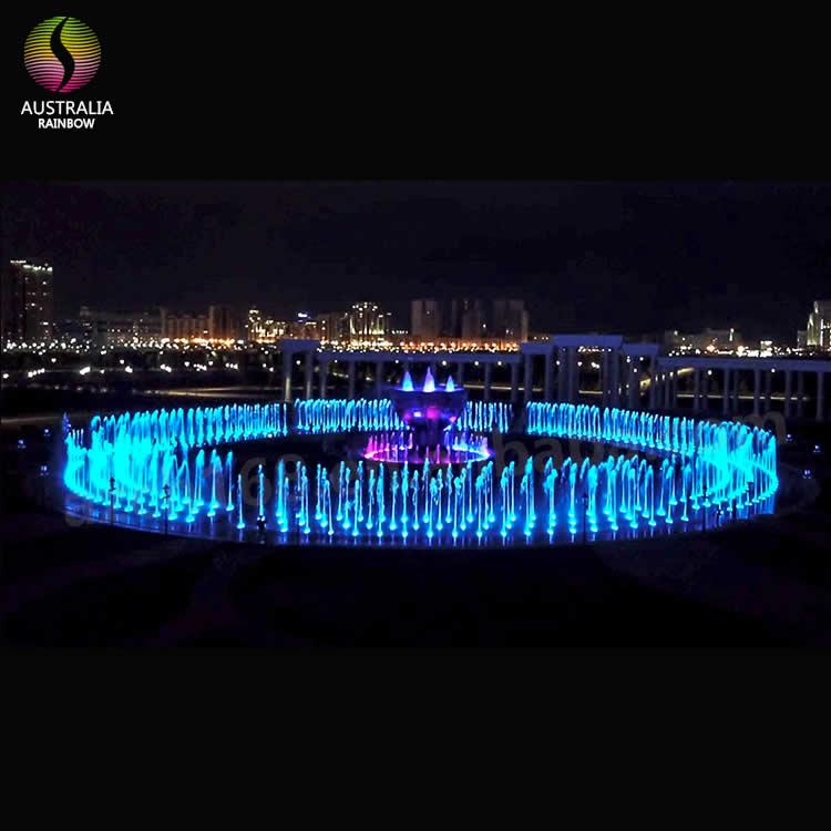 Round Shape Outdoor Floor Multimedia Dry Music Fountain 1