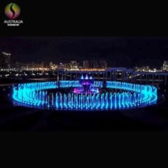 Round Shape Outdoor Floor Multimedia Dry Music Fountain