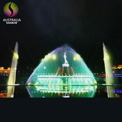 Large Outdoor Decorative Music One-Dimensional Nozzle Colorful Dancing Water Fou