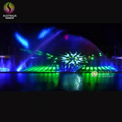 Large Music Dancing Laser Water Screen Fountain for Pool Decoration