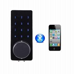 手機APP可遠程發送密碼智能藍牙鎖 鋅合金觸屏密碼鎖Bluetooth