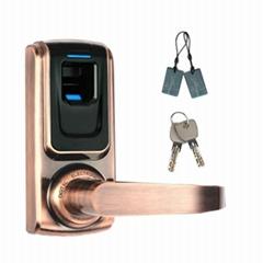 家用智能指紋木門鎖 指紋刷卡室內鎖 小型國外智能鎖