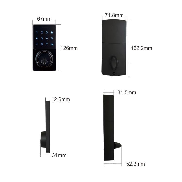 WS-815B家居室內門鎖 現代簡約電子觸摸屏密碼鎖 4