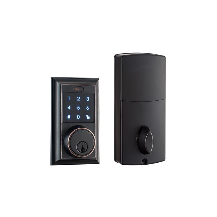 WS-815B家居室內門鎖 現代簡約電子觸摸屏密碼鎖 12