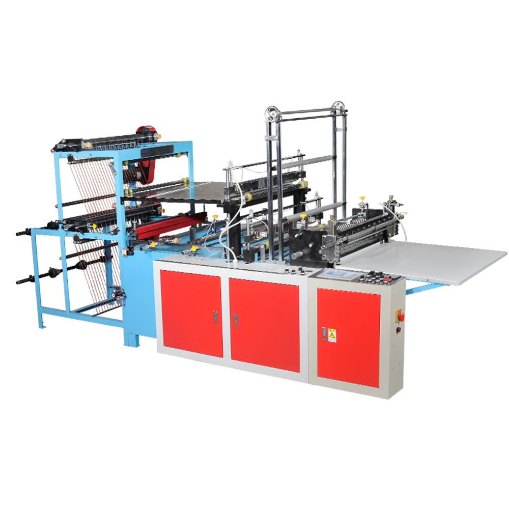 High output double-lane heat-sealing & cold-cutting bag making machine 1