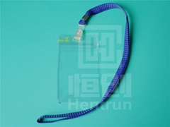 Waterproof soft transparent PVC ESD ID card holder
