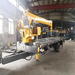 拉集装箱拖拉机平板吊车 8吨拖拉机随车吊