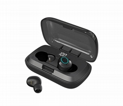 i06 TWS Wireless Earphone with Power digital display