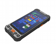 5.5inch windows 10 pro handheld termianl with NFC 4G lte USB 3.0