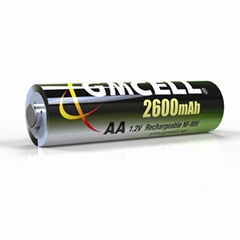 AA 1.2v 2600mAh NI-MH Rechargeable Battery