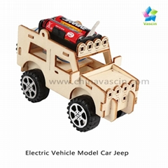DIY Car Jeep Kids Toy Electric Vehicle Model