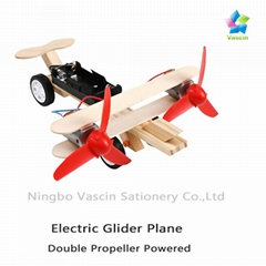 DIY Electric Glider Plane Taxiing Aircraft(Double Propellers)