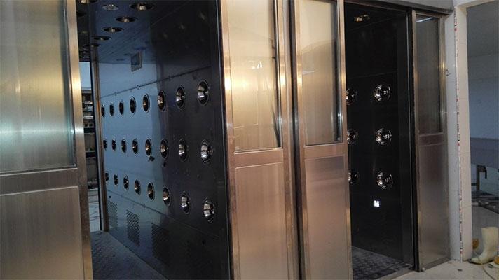 江蘇自動平移門風淋室 304不鏽鋼材質 4