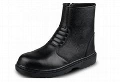 长筒真皮安全鞋靴带拉链