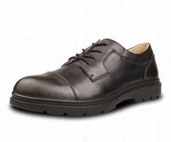 男士工作皮鞋 保安鞋 进口小牛皮工装鞋