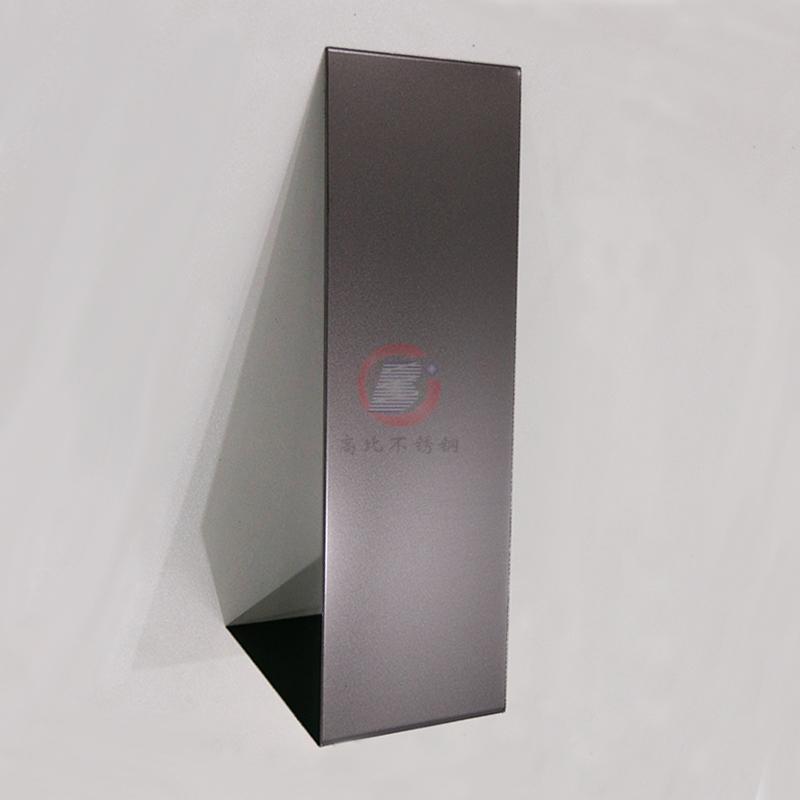 高比噴砂不鏽鋼深黑色 電梯彩色不鏽鋼門板 4