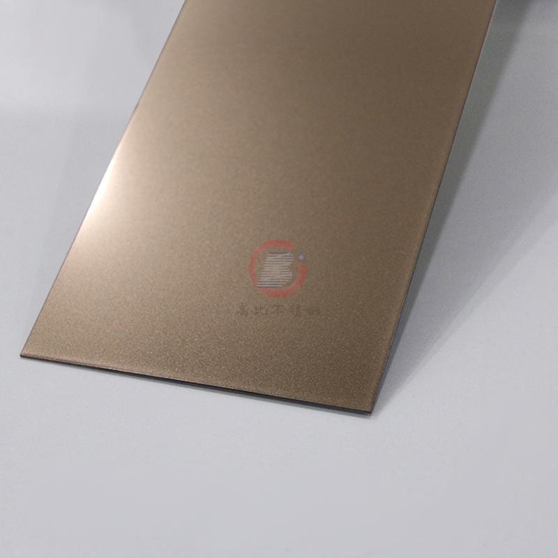 高比喷砂玫瑰金不锈钢板 会所金属装饰材料 1