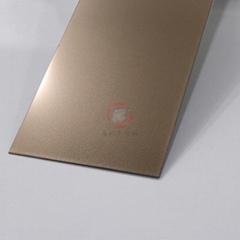 高比噴砂玫瑰金不鏽鋼板 會所金屬裝飾材料