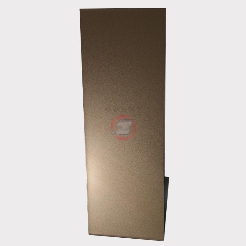 高比噴砂玫瑰金不鏽鋼板 會所金屬裝飾材料 2