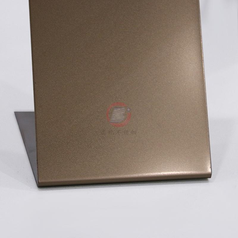 高比噴砂玫瑰金不鏽鋼板 會所金屬裝飾材料 3