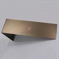高比噴砂玫瑰金不鏽鋼板 會所金屬裝飾材料 4