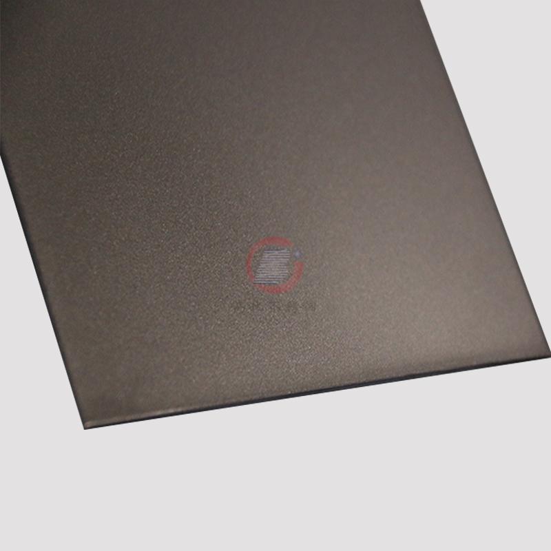 高比香檳金噴砂不鏽鋼板 豪華不鏽鋼門板材料 1
