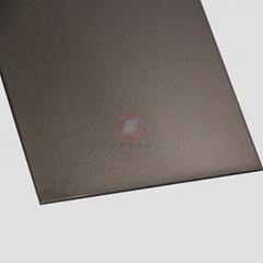 高比香檳金噴砂不鏽鋼板 豪華不鏽鋼門板材料