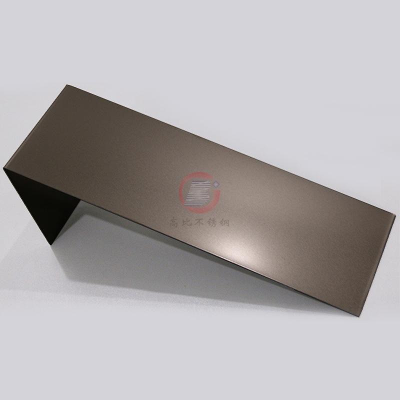 高比香檳金噴砂不鏽鋼板 豪華不鏽鋼門板材料 2