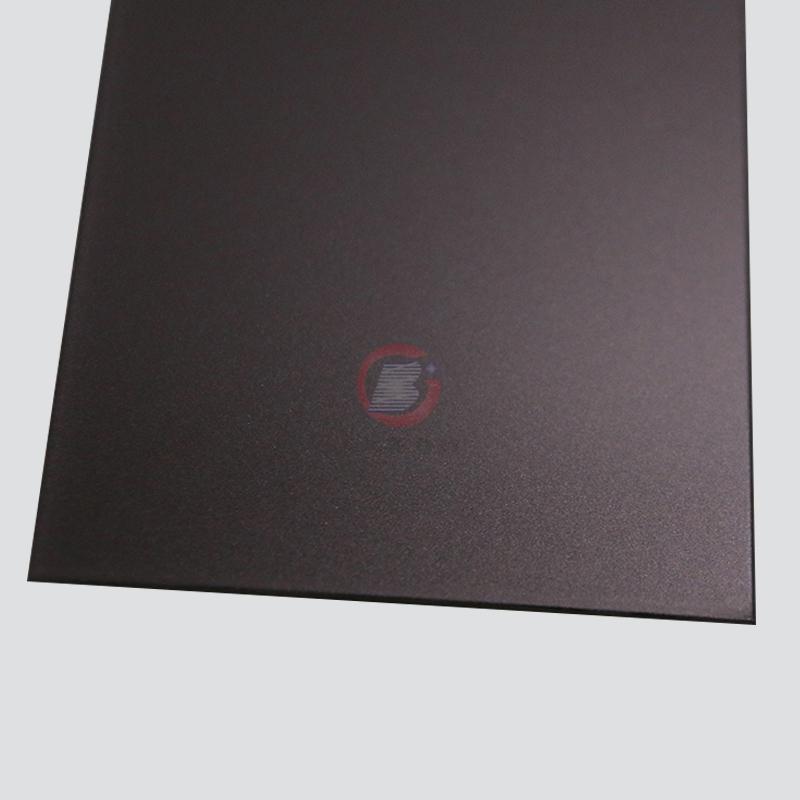 高比不鏽鋼板打砂真空鍍棕金色 1