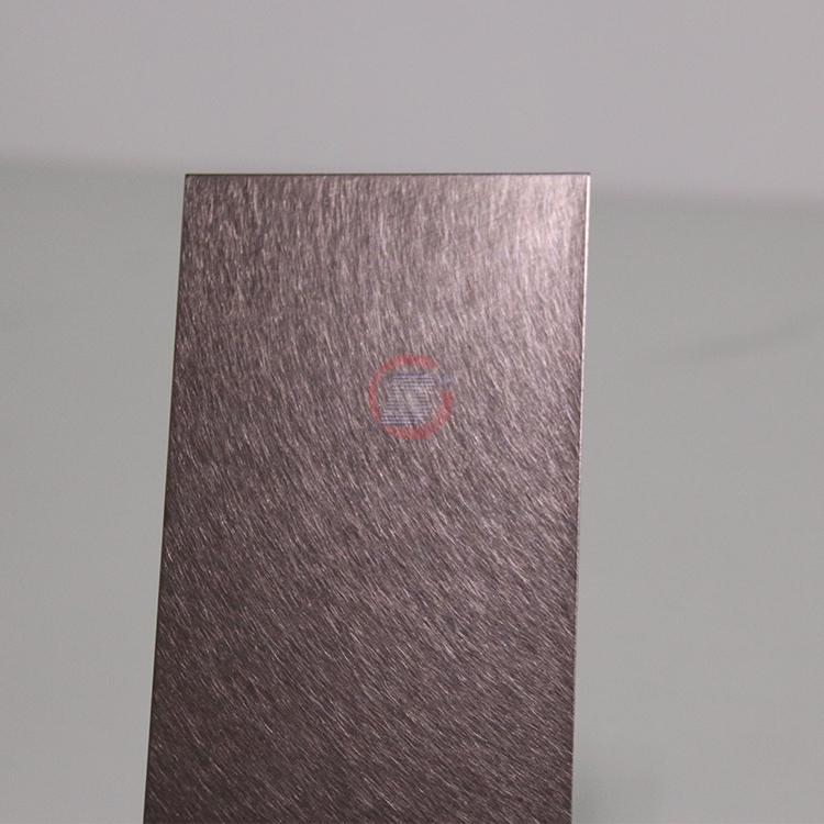 高比和纹茶色不锈钢 优雅家具金属制品材料 1