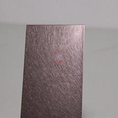 高比和纹茶色不锈钢 优雅家具金属制品材料