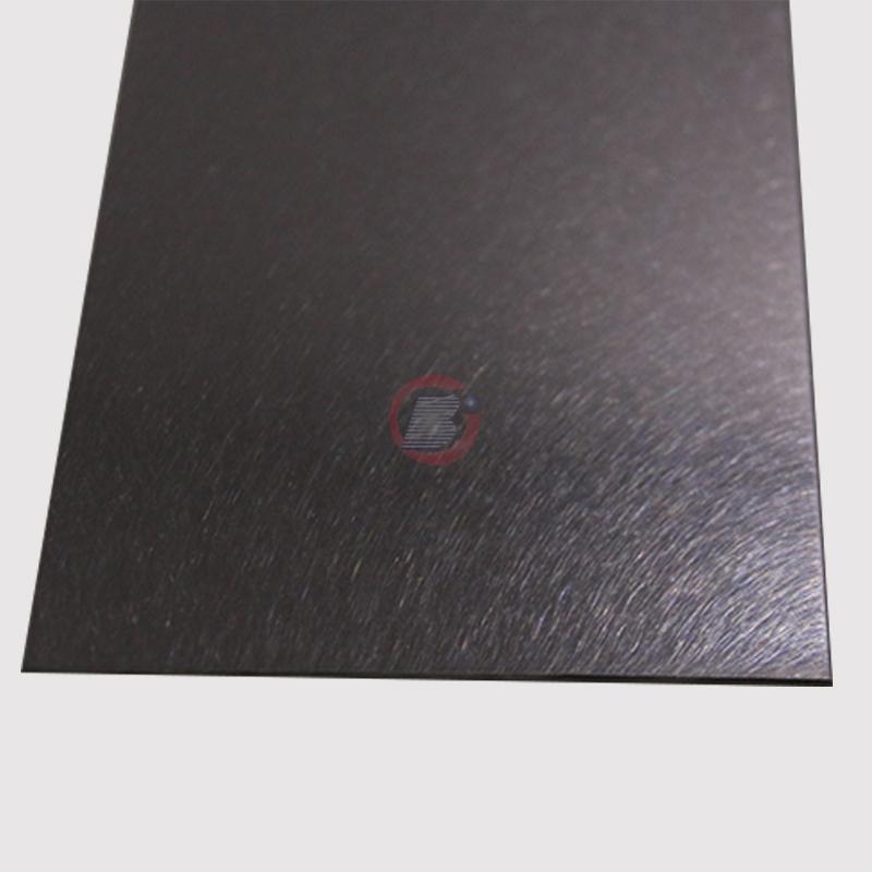 高比不锈钢和纹真空镀深黑色  2
