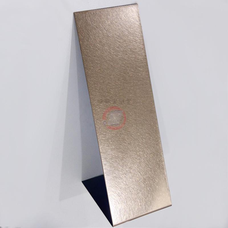 高比和紋不鏽鋼玫瑰金板 酒店裝飾材料 4