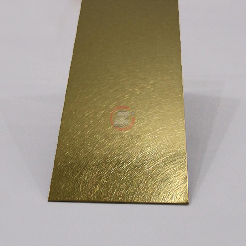 高比和紋鈦金 豪華不鏽鋼門板 1