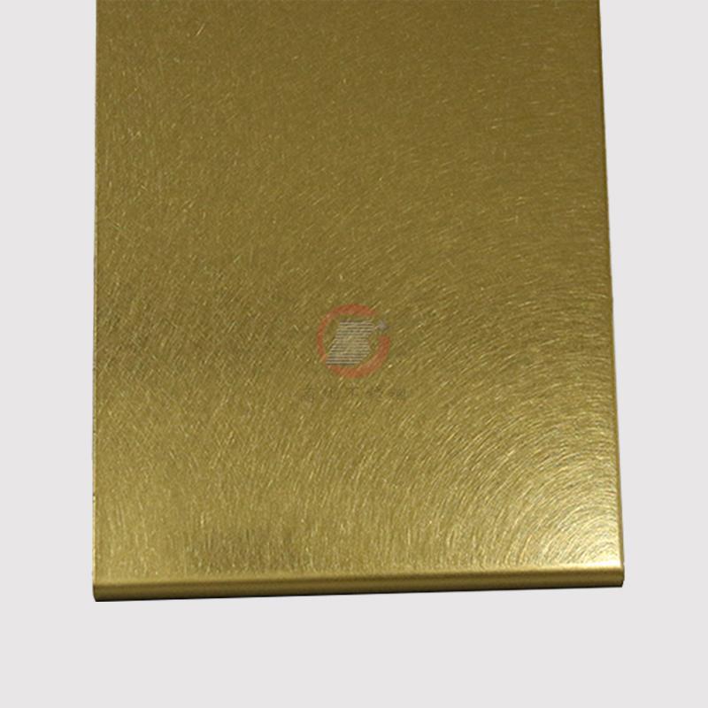 高比和紋鈦金 豪華不鏽鋼門板 2
