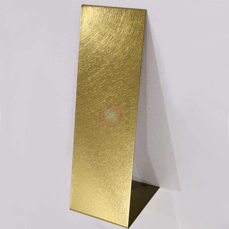 高比和紋鈦金 豪華不鏽鋼門板 3