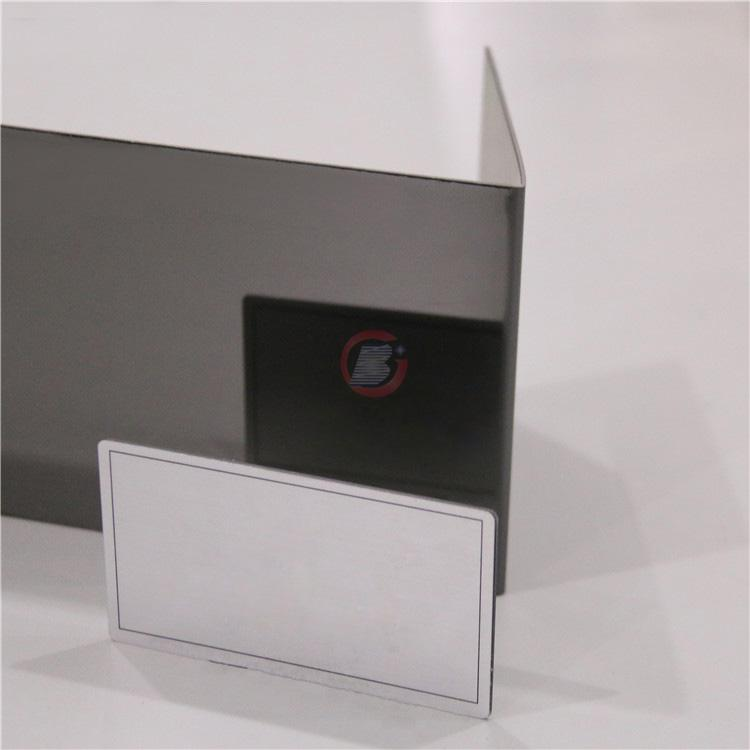 高比深黑色鏡面不鏽金  環保會所裝飾材料 1