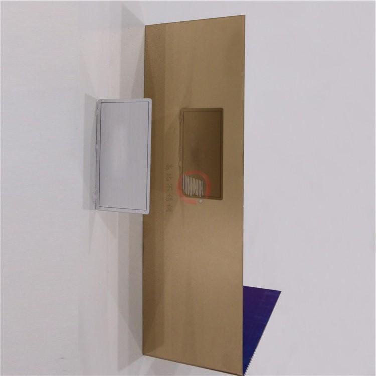 高比玫瑰金鏡面鋼板 電梯裝璜彩色不鏽鋼板 3