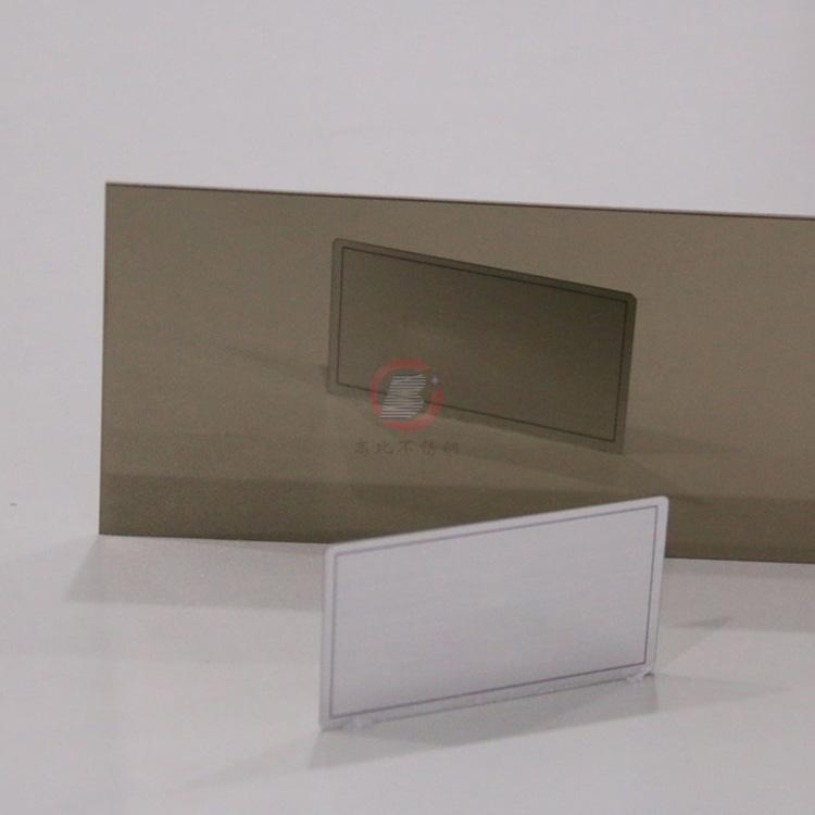 高比精磨镜面香槟金不锈钢板 304冷扎钢板总代销 3