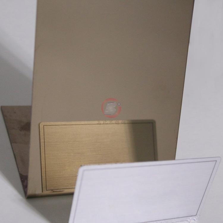 高比精磨镜面香槟金不锈钢板 304冷扎钢板总代销 4