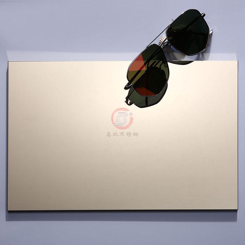 高比精磨镜面香槟金不锈钢板 304冷扎钢板总代销 5