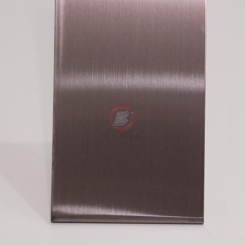 高比304發紋茶色不鏽鋼板 商場電梯不鏽鋼裝飾材料 1