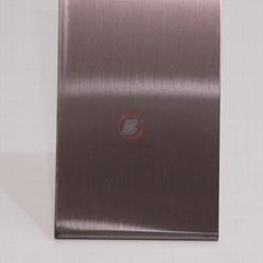高比304發紋茶色不鏽鋼板 商場電梯不鏽鋼裝飾材料