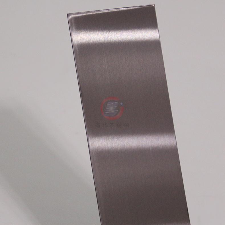 高比304发纹茶色不锈钢板 商场电梯不锈钢装饰材料 3