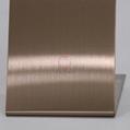 高比发纹不锈钢古铜色 优质304不锈金山表面处理加工 1