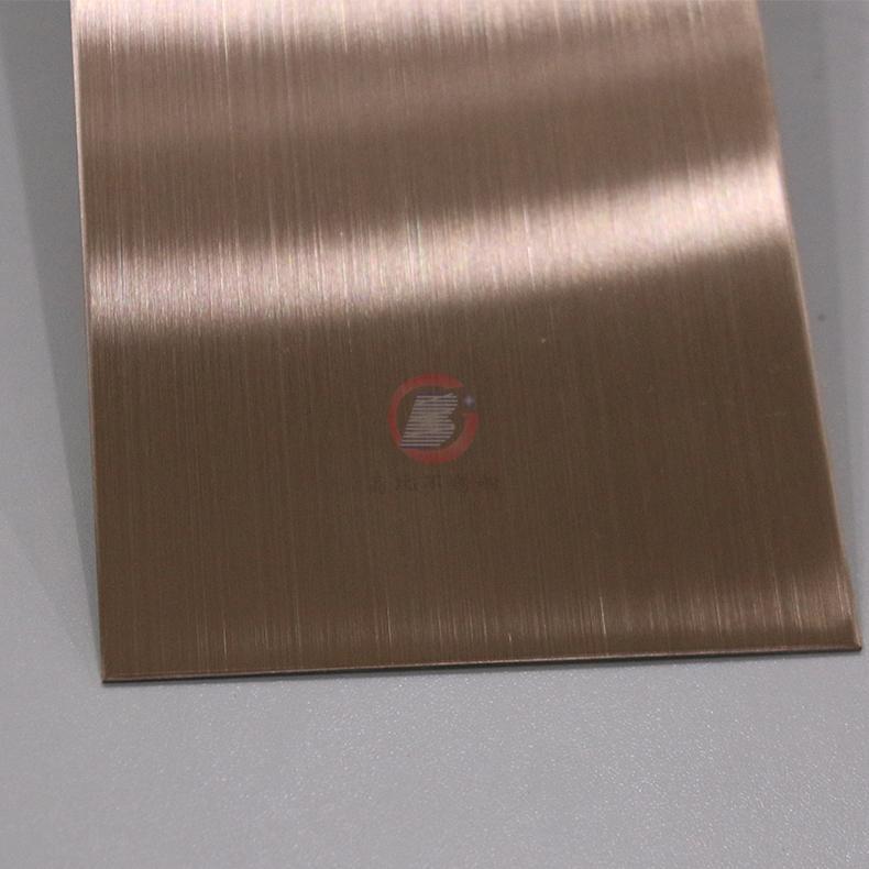 高比发纹不锈钢古铜色 优质304不锈金山表面处理加工 4