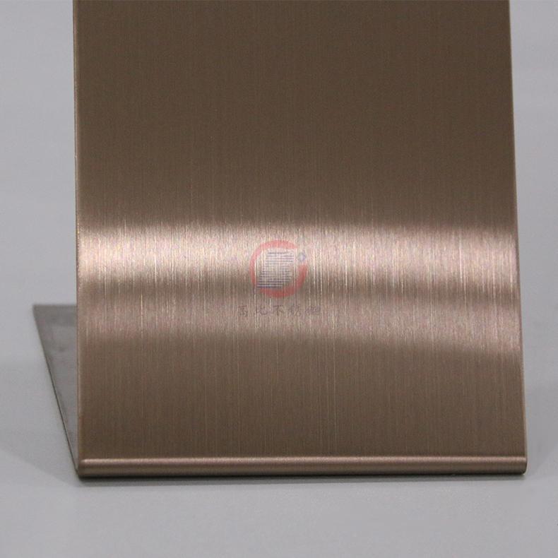 高比发纹不锈钢古铜色 优质304不锈金山表面处理加工 5