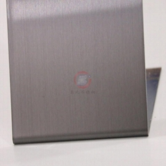 高比灰色发纹不锈钢板 专业彩色不锈钢表面处理
